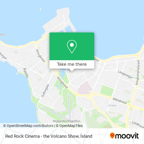 Red Rock Cinema - the Volcano Show map