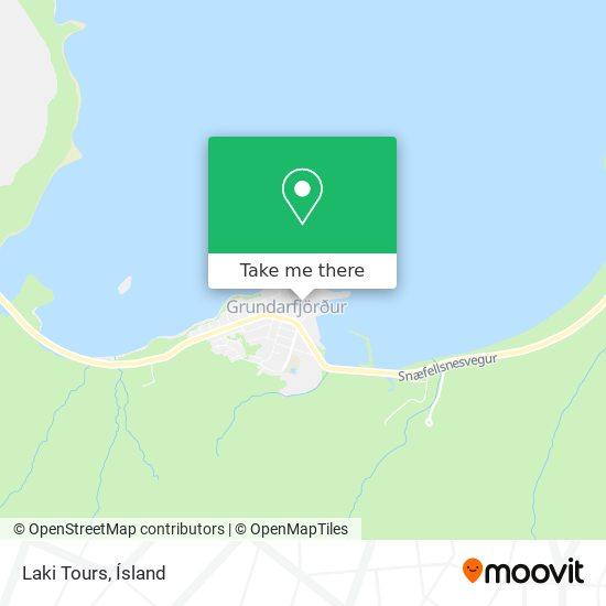 Laki Tours map