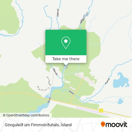 Gönguleið um Fimmvörðuháls map