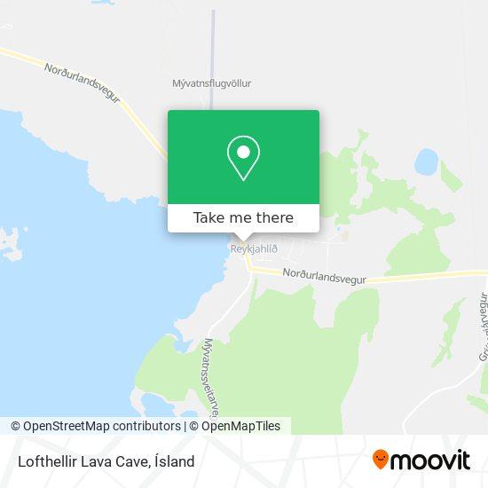 Lofthellir Lava Cave map