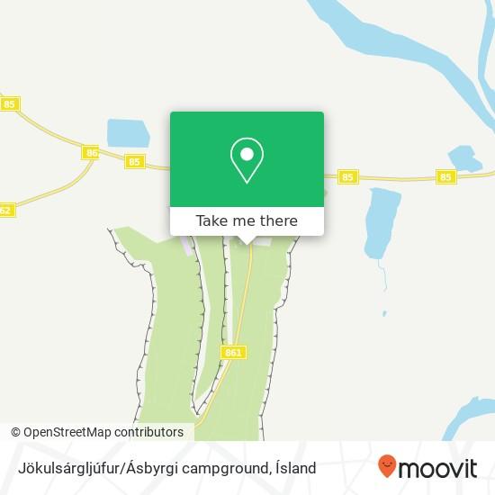 Jökulsárgljúfur / Ásbyrgi campground map