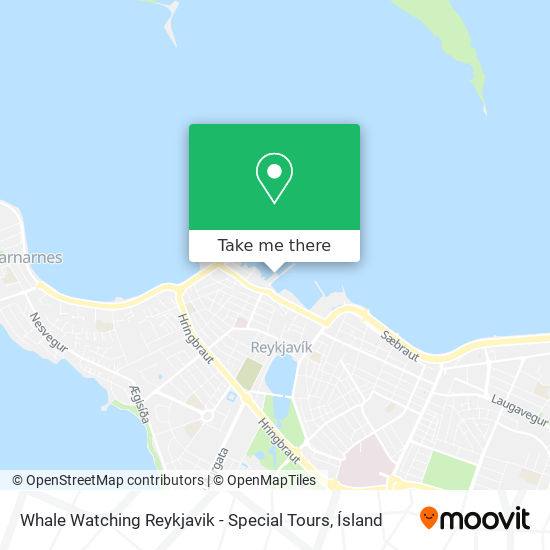 Whale Watching Reykjavik - Special Tours map