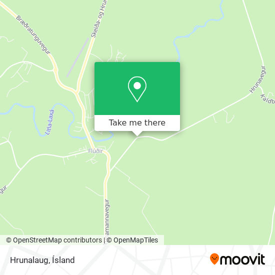 Hrunalaug map