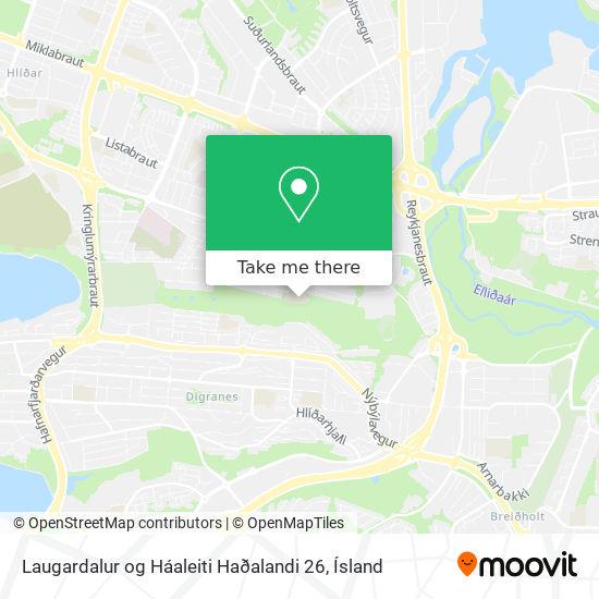 Laugardalur og Háaleiti Haðalandi 26 map