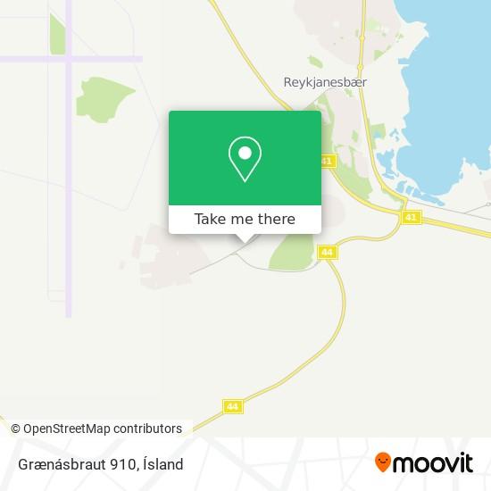 Grænásbraut 910 map