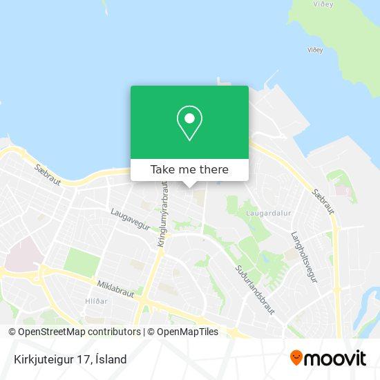 Kirkjuteigur 17 map