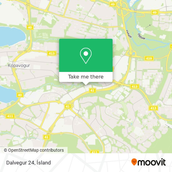 Dalvegur 24 map