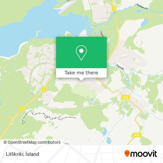 Litlikriki map