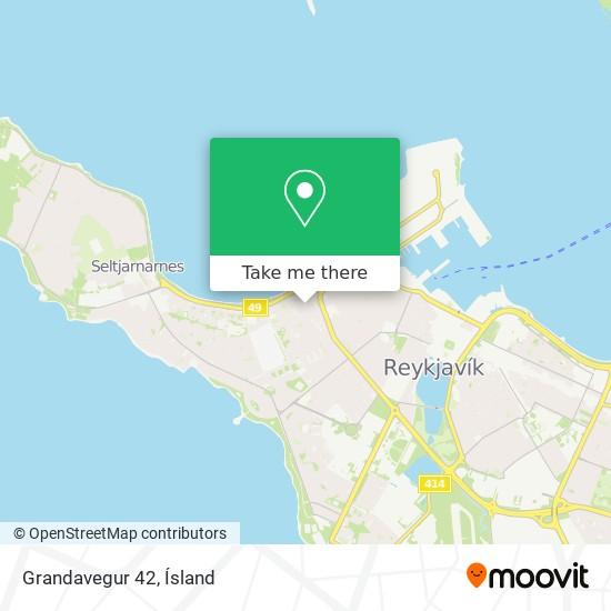 Grandavegur 42 map