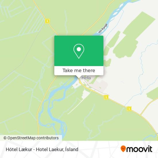 Hótel Lækur - Hotel Laekur map