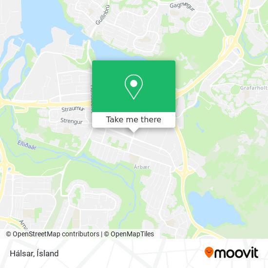 Hálsar map