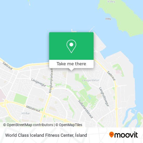 World Class Iceland Fitness Center map