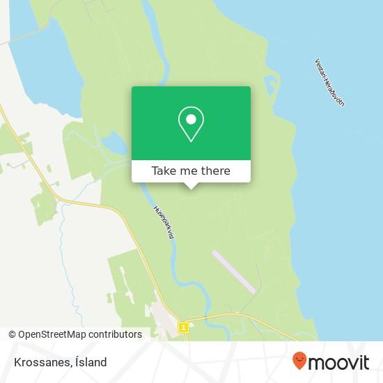 Krossanes map