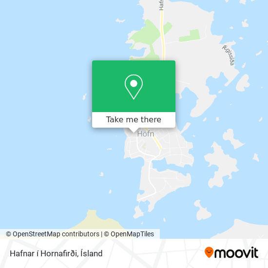 Hafnar í Hornafirði map
