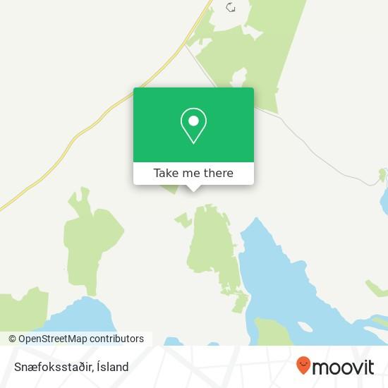 Snæfoksstaðir map
