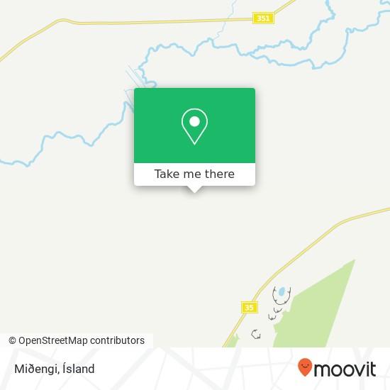 Miðengi map