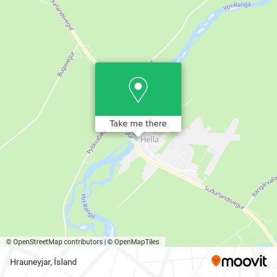 Hrauneyjar map