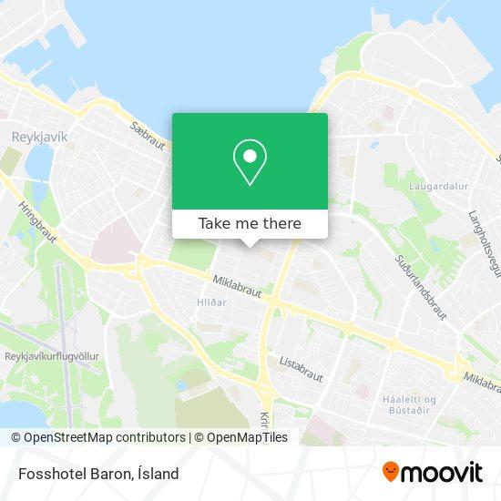 Fosshotel Baron map