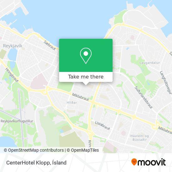 CenterHotel Klopp map
