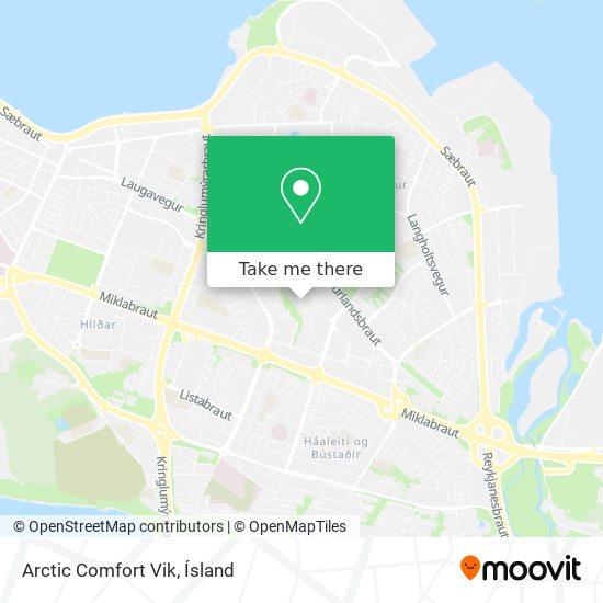 Arctic Comfort Vik map