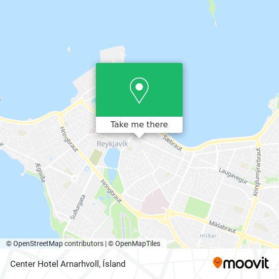 Center Hotel Arnarhvoll map