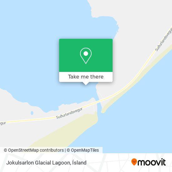Jokulsarlon Glacial Lagoon map