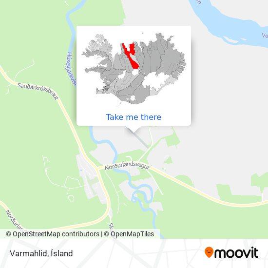 Varmahlid map