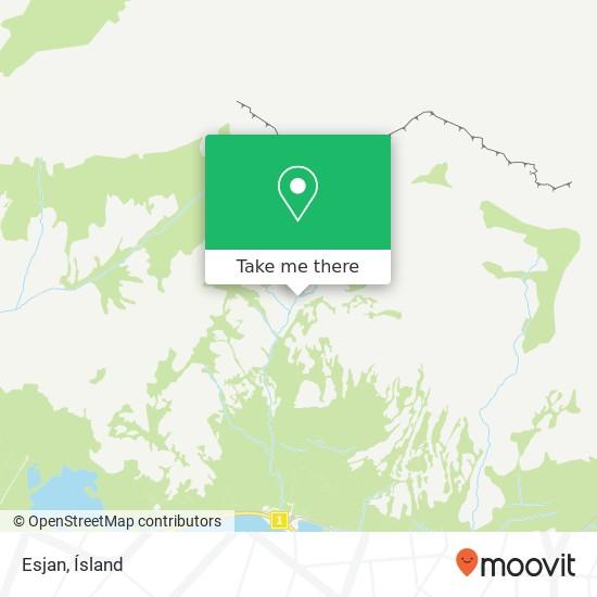 Esjan map