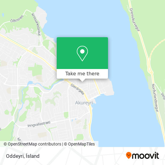 Oddeyri map