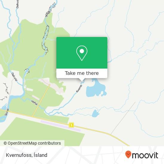 Kvernufoss map