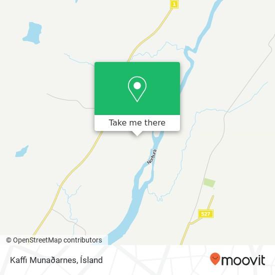 Kaffi Munaðarnes map