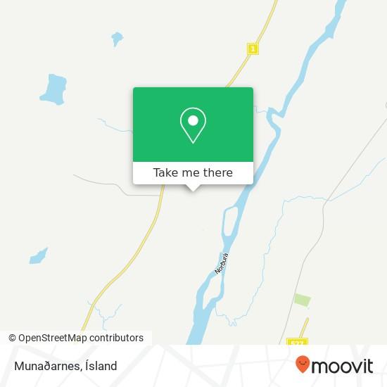 Munaðarnes map
