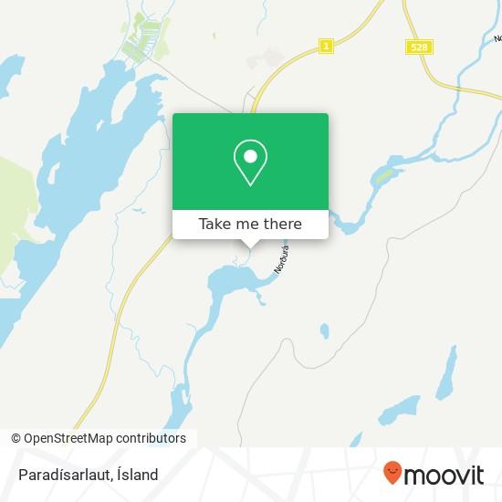 Paradísarlaut map