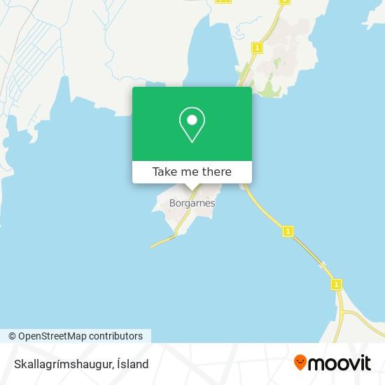 Skallagrímshaugur map