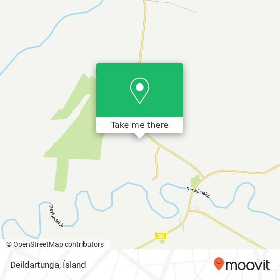 Deildartunga map