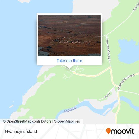 Mapa Hvanneyri