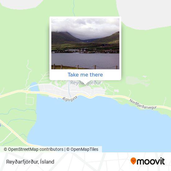 Reyðarfjörður map