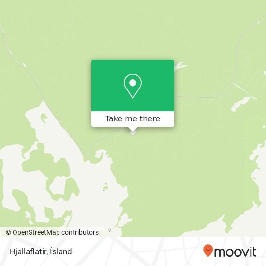 Hjallaflatir map