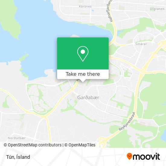 Tún map