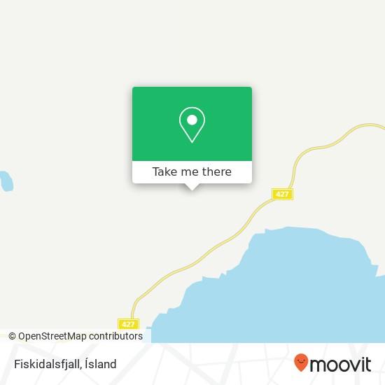 Mapa Fiskidalsfjall