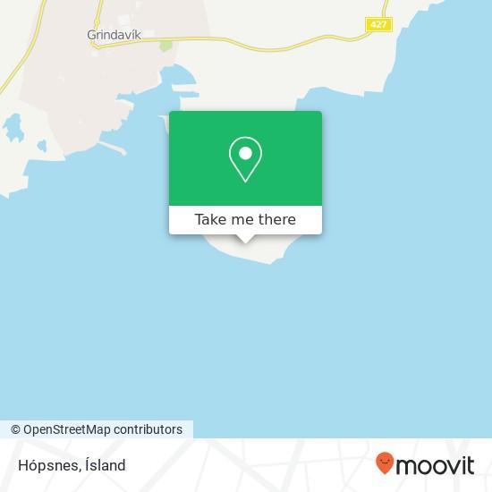 Hópsnes map