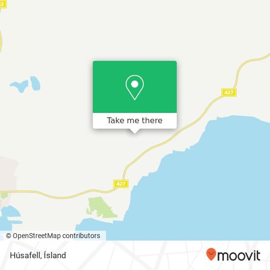Mapa Húsafell