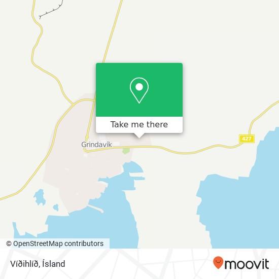 Víðihlíð map