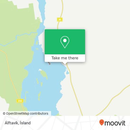 Álftavík map