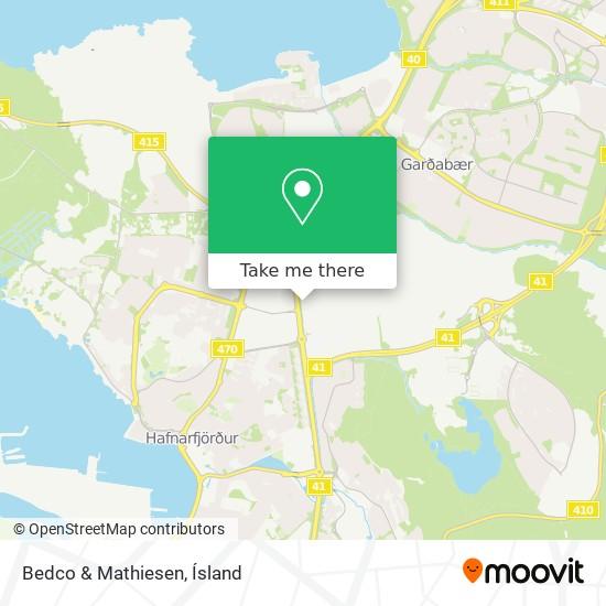 Bedco & Mathiesen map