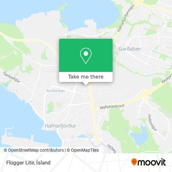 Flügger Litir map