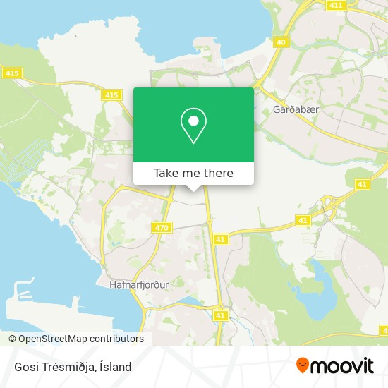 Gosi Trésmiðja map