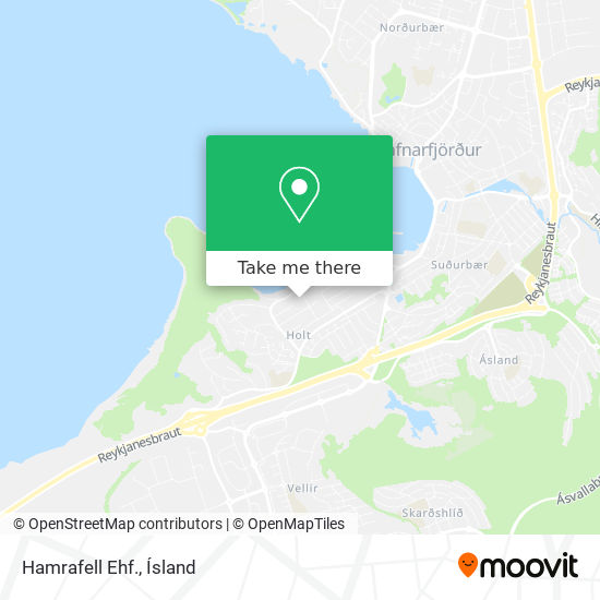 Hamrafell Ehf. map
