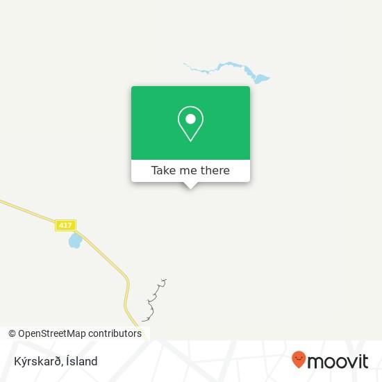 Kýrskarð map
