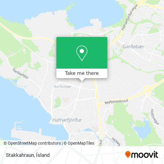 Stakkahraun map